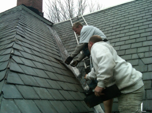 Slate roof repairs and restoration